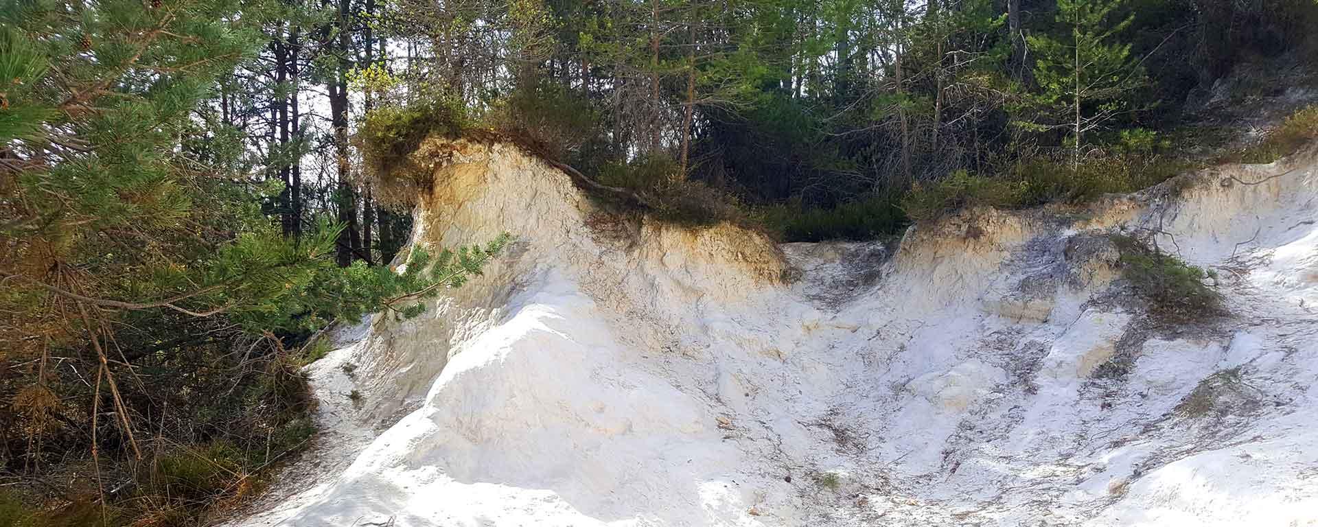 Carrière de sable blanc de la forêt de Saoû.