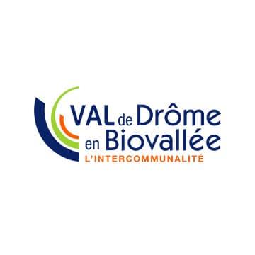 Logo de la communauté de communes val de Drôme.
